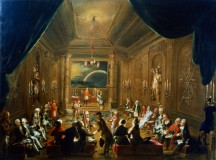 Anonymous rendering of Masonic Lodge meeting